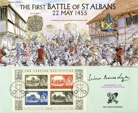 Castles: Miniature Sheet, The Battle of St. Albans