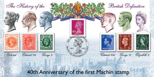 Machin 40 Years: Miniature Sheet, The History of the British Definitive