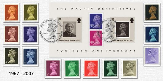 Machin 40 Years: Miniature Sheet, 40th Anniversary