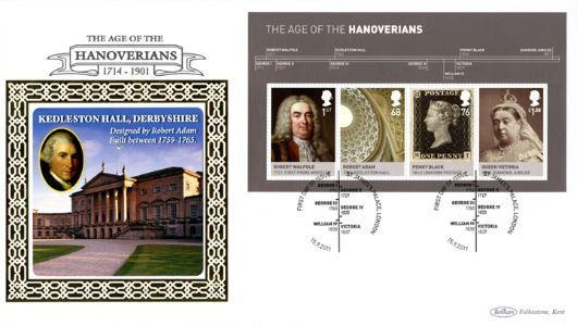 The Hanoverians: Miniature Sheet, Kedlestone Hall