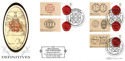 350 Years of the Postmark: Generic Sheet, Mulready Envelope
