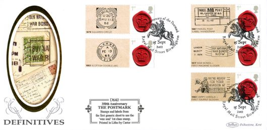 350 Years of the Postmark: Generic Sheet, War Bonds Slogan Postmarks