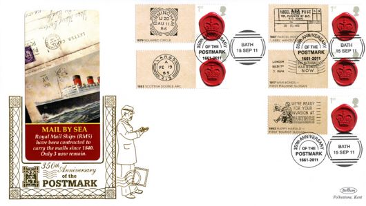 350 Years of the Postmark: Generic Sheet, Mail by Sea