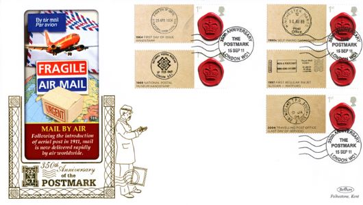 350 Years of the Postmark: Generic Sheet, Mail by Air