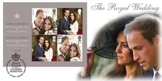 Royal Wedding: Miniature Sheet, Prince William and Kate