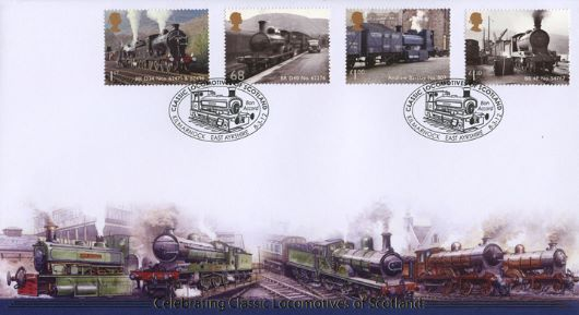 Classic Locomotives: Series No.2: Miniature Sheet, Classic Locos of Scotland
