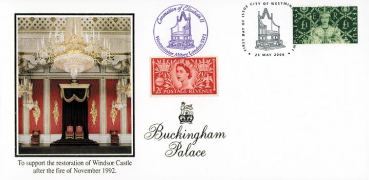 Queen's Stamps: £1 Coronation, 1953 Coronation Throne Room