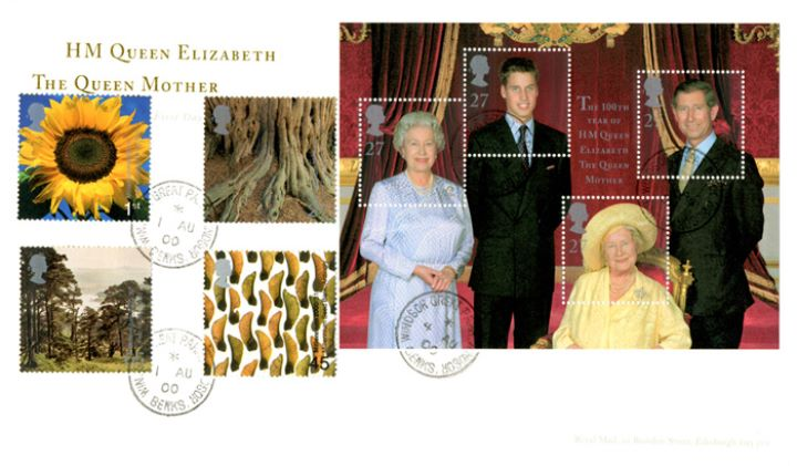 Queen Mother: Miniature Sheet, Windsor Great Park
