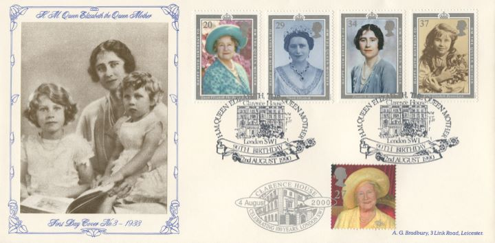 Queen Mother: Miniature Sheet, The Queen Mother and Princesses