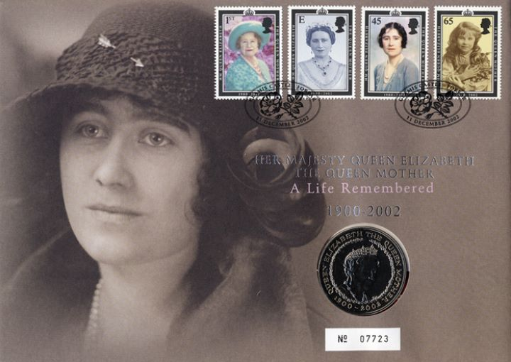 The Queen Mother - In Memoriam, £5 Coin Cover