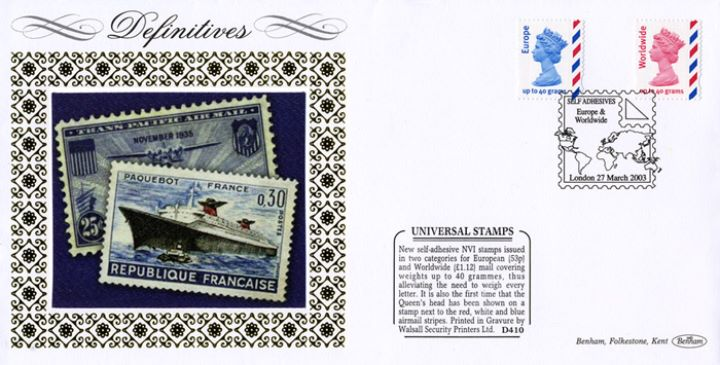 Machins (EP): Airmail, French Stamps