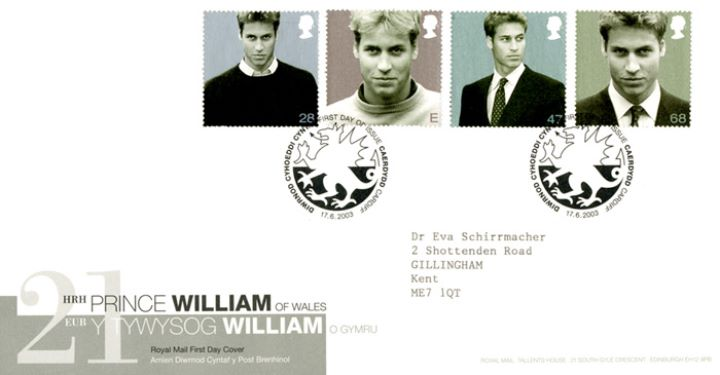 Prince William's 21st Birthday, Bi-lingual Design