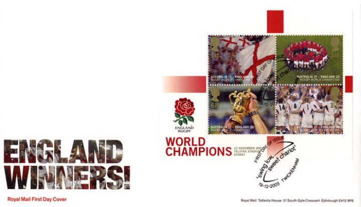Rugby World Cup: Miniature Sheet, England Winners