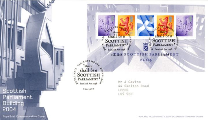 Scottish Parliament: Miniature Sheet, The Building