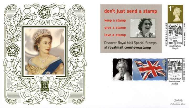 Self Adhesive: 6 x 1st Advert (Queen Stamp), The Queen