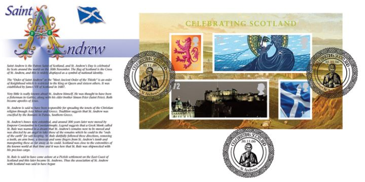 Celebrating Scotland: Miniature Sheet, The Story of St. Andrew