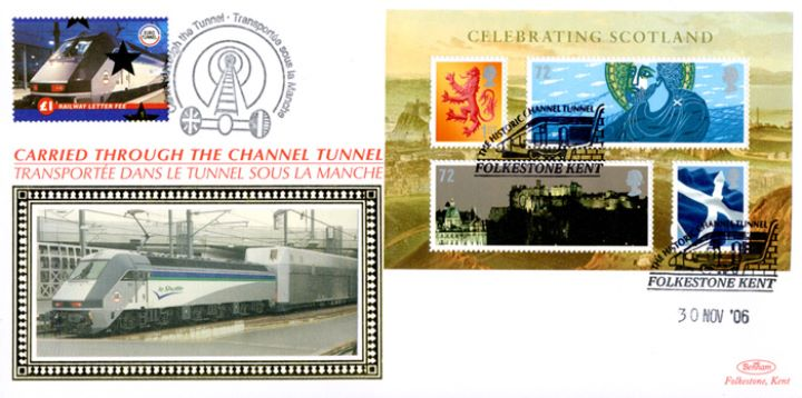 Celebrating Scotland: Miniature Sheet, Historic Channel Tunnel