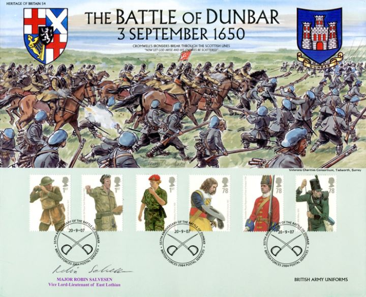 Army Uniforms, The Battle of Dunbar