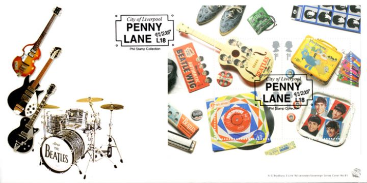 The Beatles: Miniature Sheet, Guitars and Drum Kit