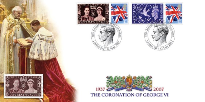 Coronation of George VI, 70th Anniversary Cover 1