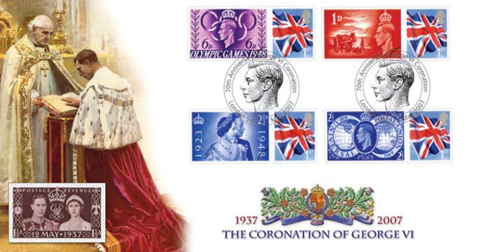 Coronation of George VI, 70th Anniversary Cover 2