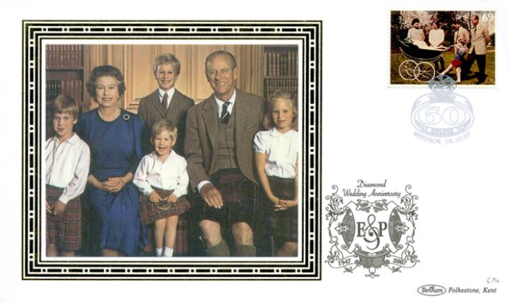 Diamond Wedding: Miniature Sheet, The Royal Family