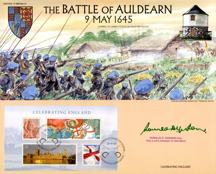 Celebrating England: Miniature Sheet, The Battle of Auldearn