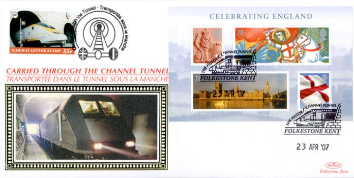 Celebrating England: Miniature Sheet, Historic Channel Tunnel