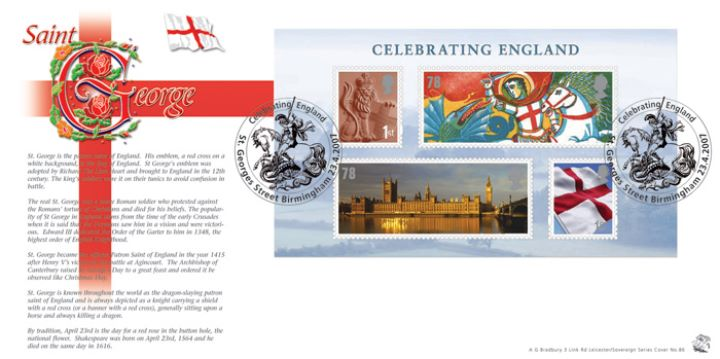 Celebrating England: Miniature Sheet, The History of St. George