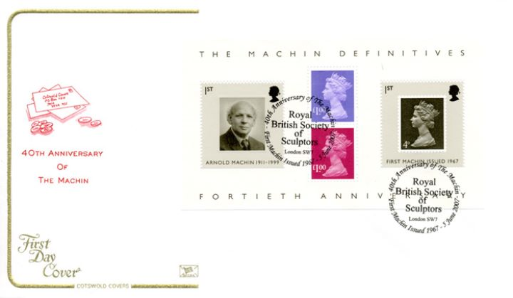Machin 40 Years: Miniature Sheet, Letters and Coins