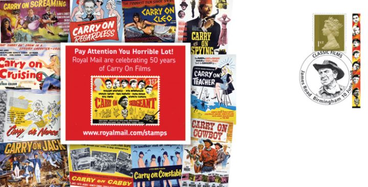 Self Adhesive: British Films: 6 x 1st Advert (Carry On), Carry On Film Posters