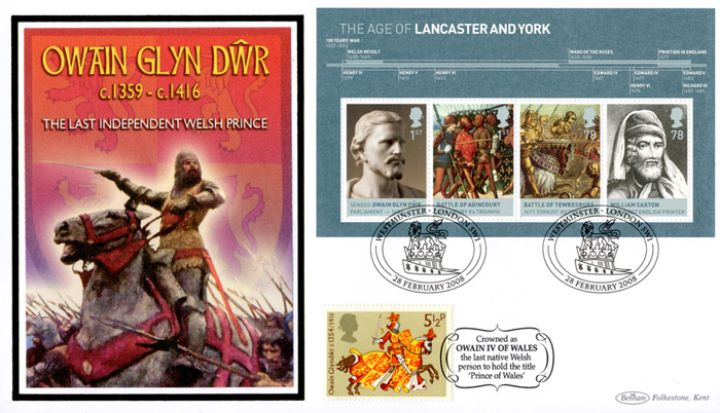 The Houses of Lancaster & York: Miniature Sheet, Owain Glyn Dwr