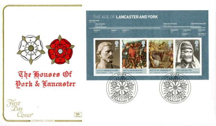 The Houses of Lancaster & York: Miniature Sheet, The two Roses