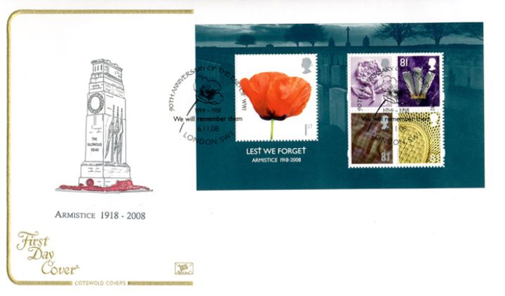 Lest We Forget 2008: Miniature Sheet, The Cenotaph