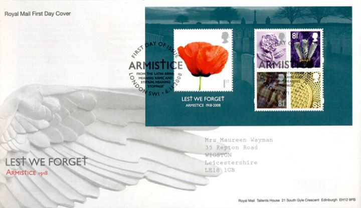 Lest We Forget 2008: Miniature Sheet, Wing