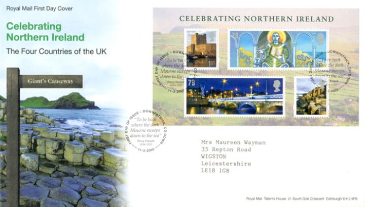 Celebrating Northern Ireland: Miniature Sheet, Giant's Causeway
