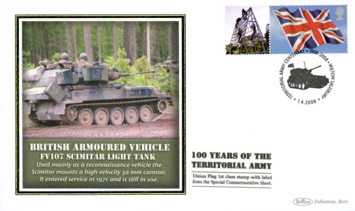 Territorial Army [Commemorative Sheet], Scimitar Light Tank
