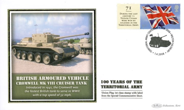 Territorial Army [Commemorative Sheet], Cromwell Cruiser Tank