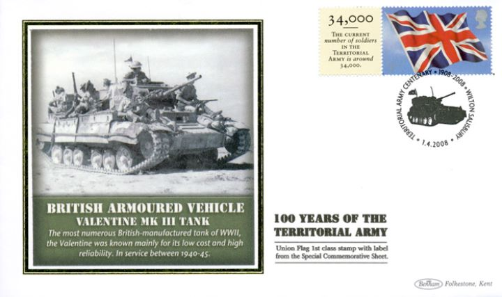 Territorial Army [Commemorative Sheet], Valentine Tank