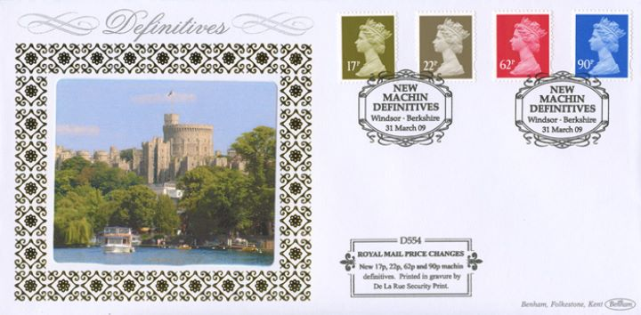 Machins (EP): 17p, 22p, 62p, 90p, Windsor Castle