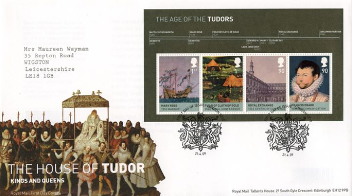 The Tudors: Miniature Sheet, Coronation Procession of Elizabeth I