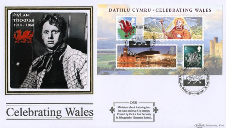 Celebrating Wales: Miniature Sheet, Dylan Thomas