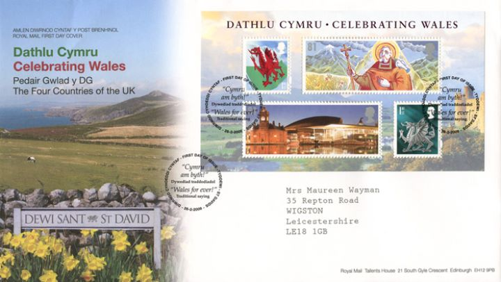 Celebrating Wales: Miniature Sheet, Welsh Coast