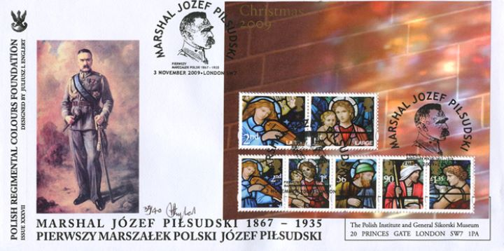 Christmas 2009: Miniature Sheet, Marshal Jozef Pilsudski