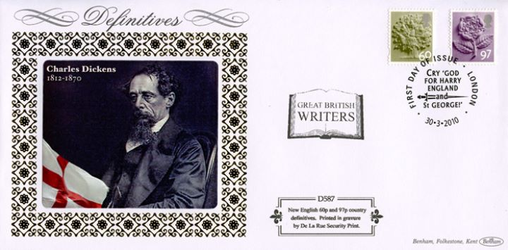 England 60p, 97p, Charles Dickens
