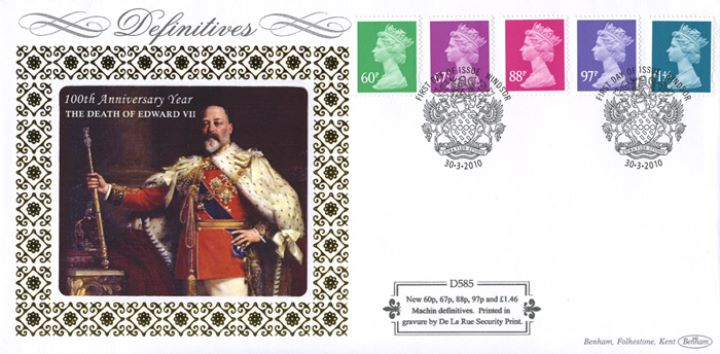 Machins (EP): 60p, 67p, 88p, 97p, £1.46, E, W, Edward VII
