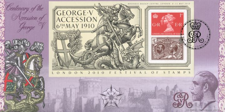 King George V (Overprint): Miniature Sheet, George and the Dragon