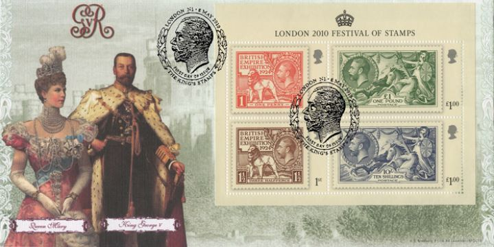 Festival of Stamps: Miniature Sheet, King George V & Queen Mary
