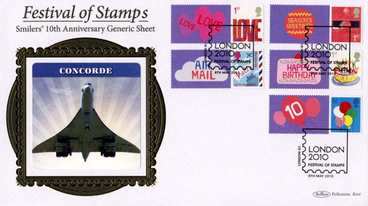 Festival of Stamps: Keep Smiling Generic Sheet, Concorde