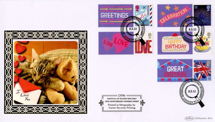 Festival of Stamps: Keep Smiling Generic Sheet, Kitten and Teddy